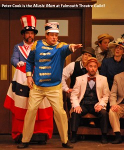 "Peter Cook as the ""Music Man"" at Falmouth Theatre Guild"